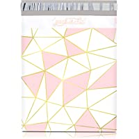 """Pack It Chic - 10"""" X 13"""" (100 Pack) Pink Gold Mosaic Geometric Poly Mailer Envelope Plastic Custom Mailing & Shipping…"""