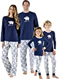 SleepytimePjs Family Matching Sleepwear Knit Blue Polar Bear Pajamas PJ Sets