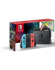 Console Nintendo Switch avec paire de Joy-Con bleu néon et rouge néon Edition Limitée + code de téléchargement 35€ Nintendo eShop
