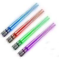 Lightsaber Chopsticks Light Up Led Chopstick, 4-Pairs, Red Blue Green Purple