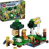 LEGO Minecraft De bijenhouderij 21165 Minecraft bouwspeelgoed boordevol actie met een imker, plus coole figuren van…