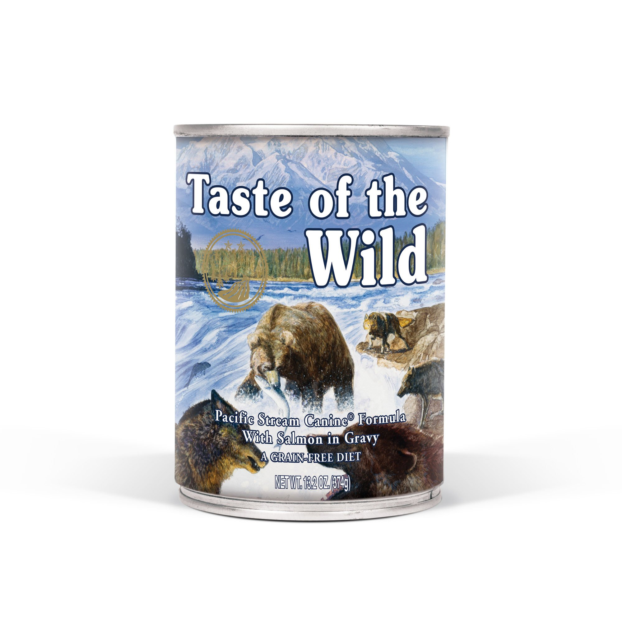 Taste of the Wild Pacific Stream Grain-Free Wet Canned Dog Food with Smoked Salmon 13.2oz, Case of 12