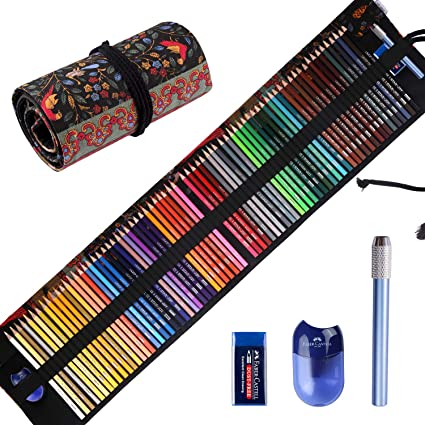 - Amazon.com: Premier Colored Pencils For Adults Coloring Books, Premium  Artist Colored Pencil Set (72-Count), Handmade Canvas Pencil Wrap, Extra  Accessories Included, Holiday Gift, Oil Based Color Pencils: Arts, Crafts &  Sewing