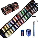 Premier Colored Pencils for Adults Coloring Books, Premium Artist Colored Pencil Set (72-Count), Handmade Canvas Pencil…