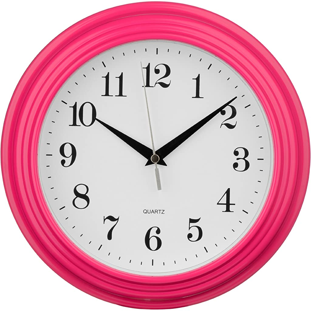 Premier Housewares Hot Pink Vintage Wall Clock