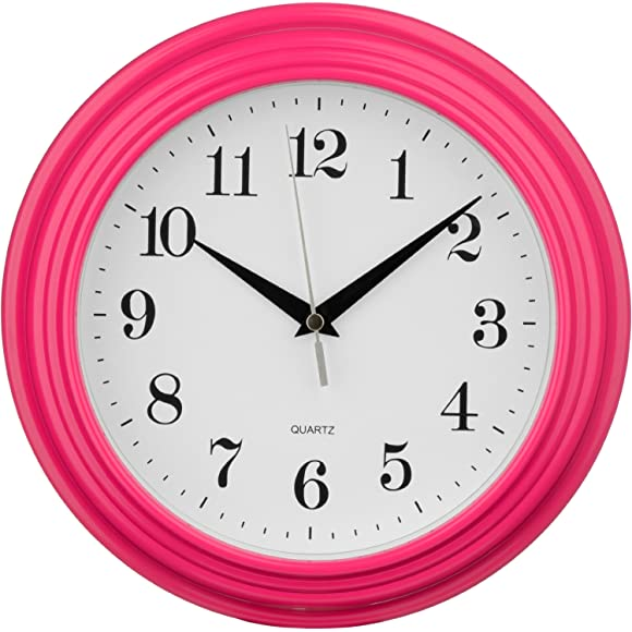 Premier Housewares Hot Pink Vintage Wall Clock
