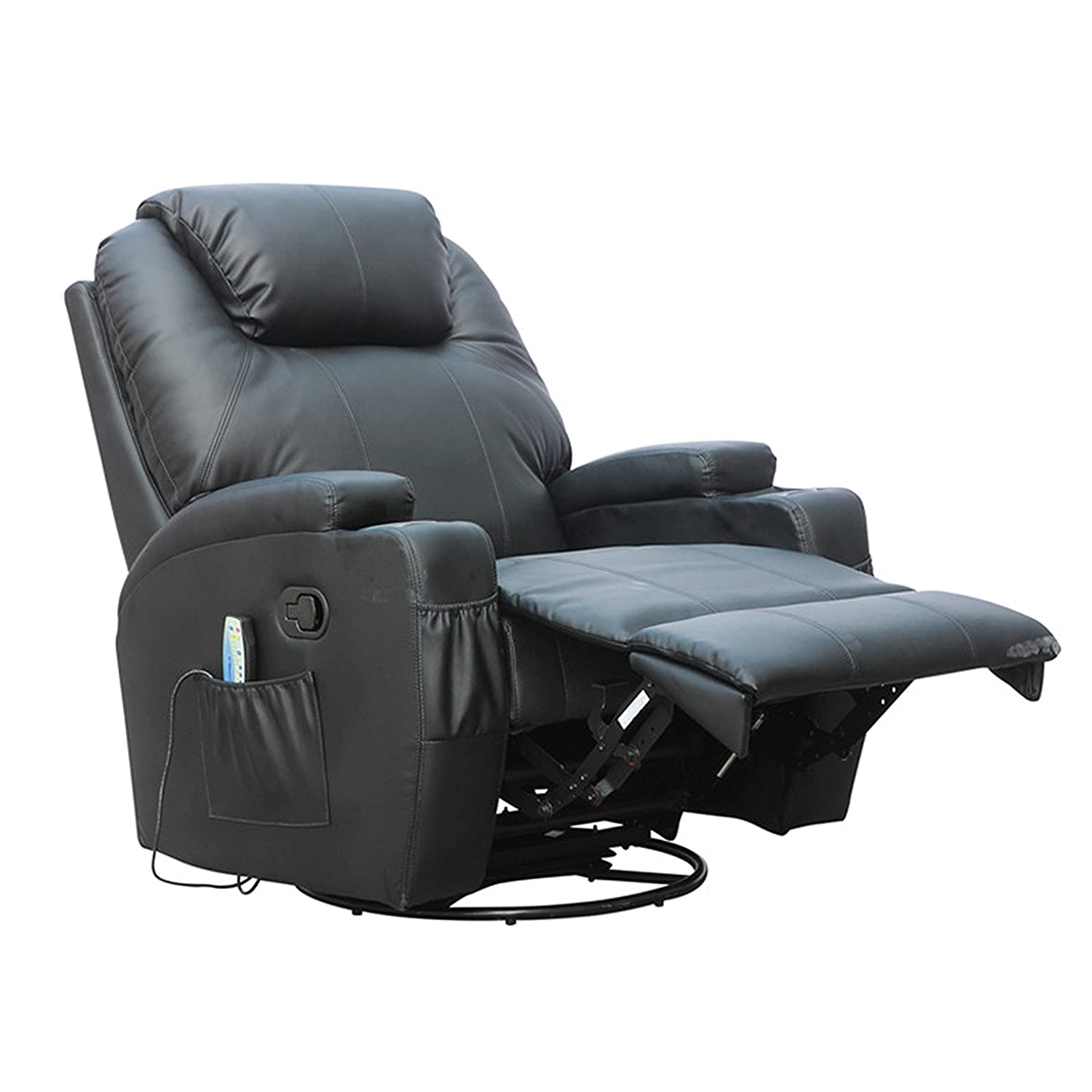 FoxHunter Bonded Leather Massage Cinema Recliner Sofa Chair