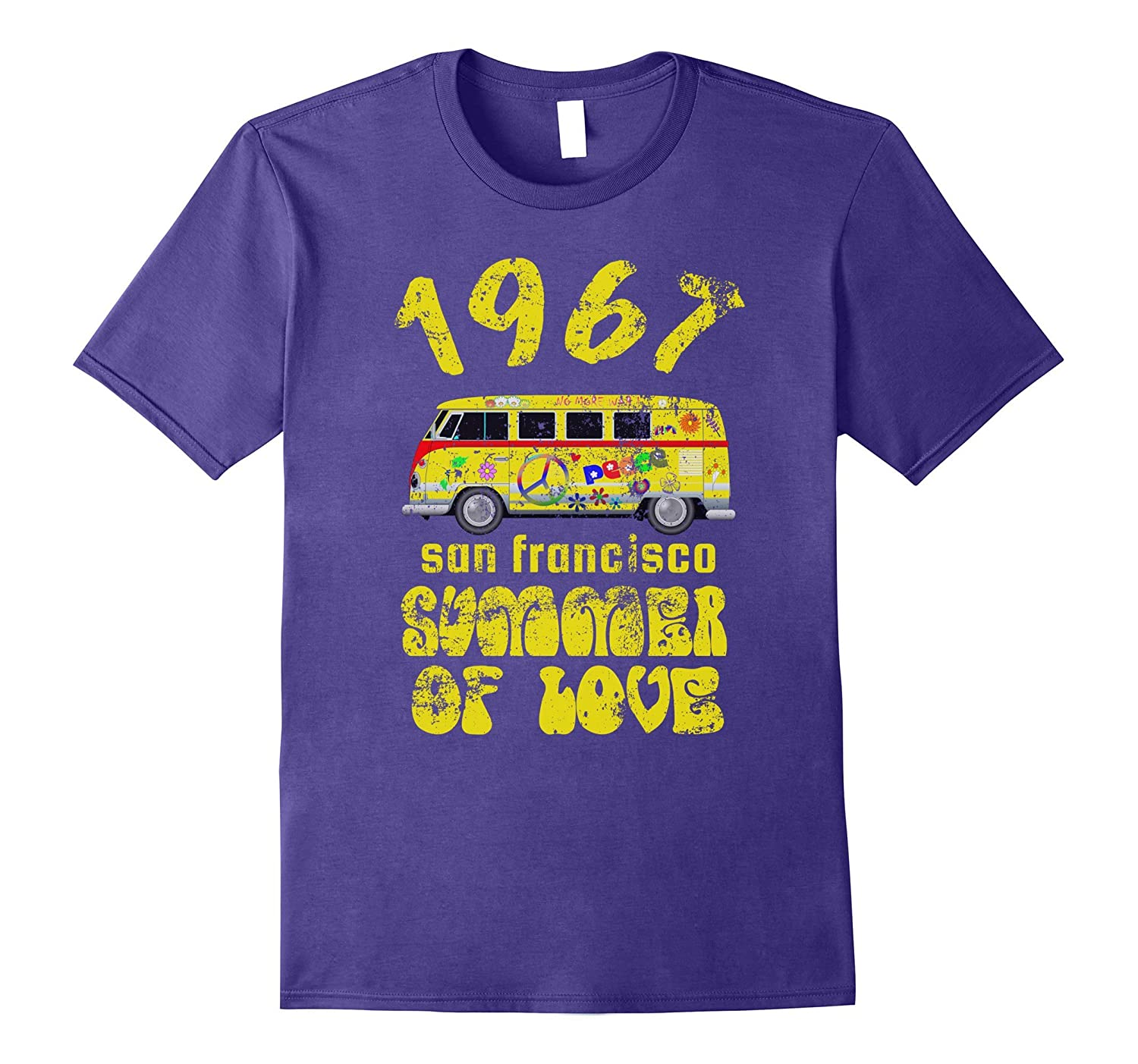 1967 San Francisco Summer of Love Vintage Van T-Shirt Retro-TH