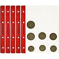 PELLER'S. Feuilles pour collection de pièces de monnaie, 46mm X 50mm (pour classeur M). Paquet de 10 pièces. 12 Pochettes pour monnaies idéal pour les pièces en euros et autres jusqu'à 40 mm de diamètre.