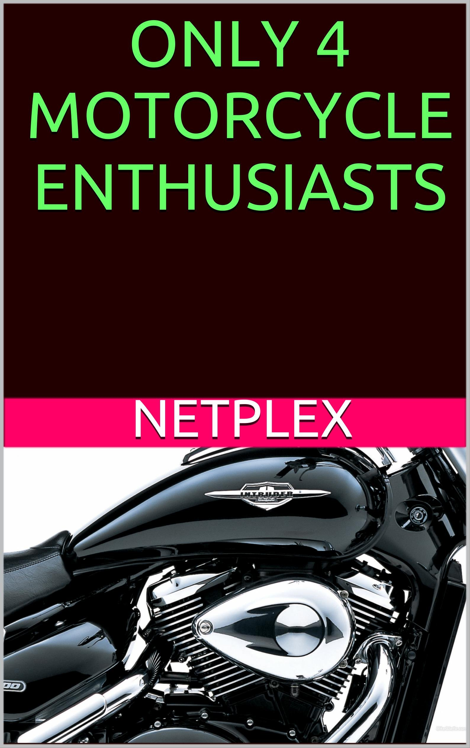 ONLY 4 MOTORCYCLE ENTHUSIASTS ! (English Edition)
