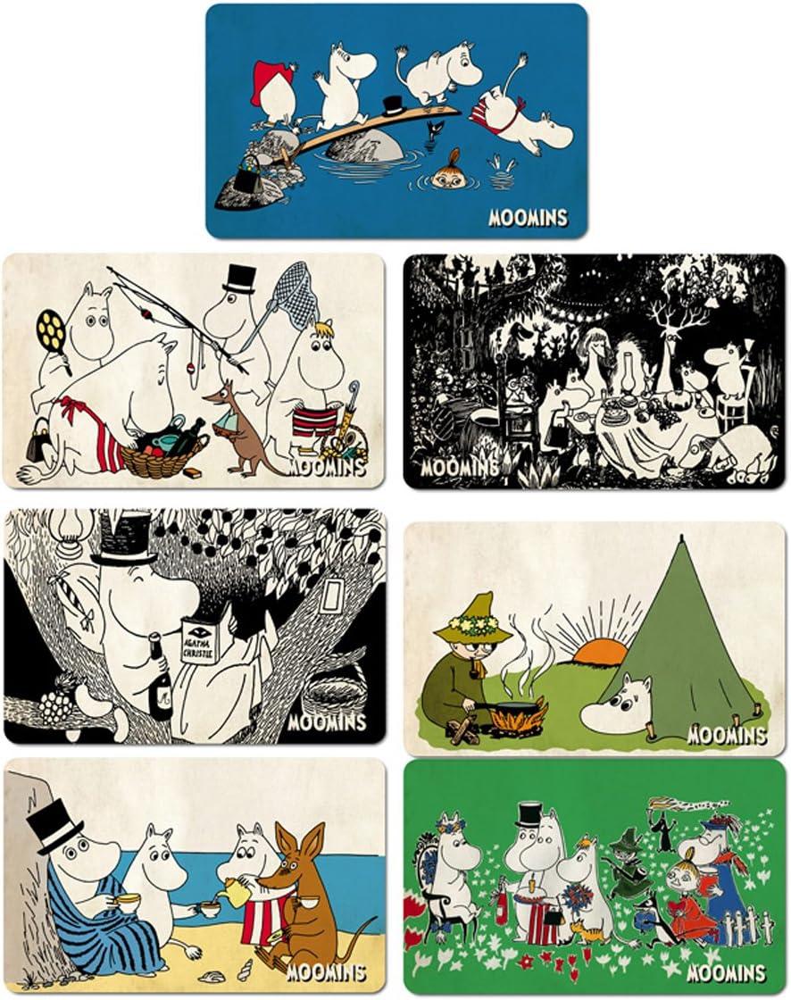 Licensed original design multicoloured Moomins Family /& Little My Breakfast Chopping boards Logoshirt The Moomins Set of 7