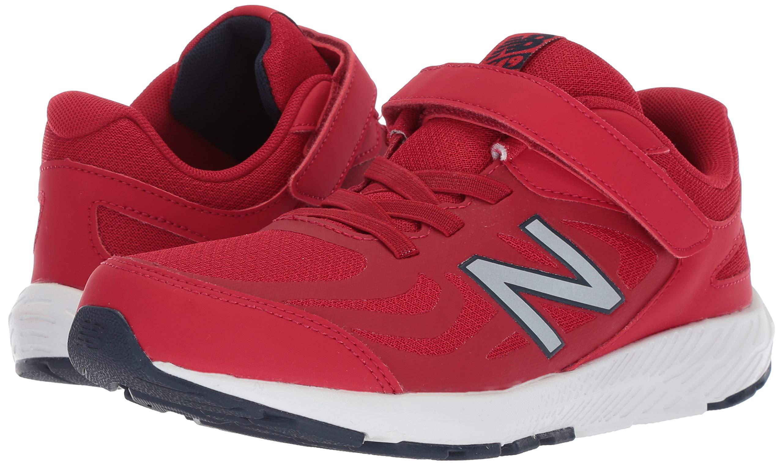 New Balance Boys' 519v1 Hook and Loop Running Shoe, Chili Pepper/Nubuck Scarlet, 2 M US Infant by New Balance (Image #6)
