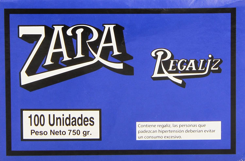Zara Regaliz barra natural, 100 unidades: Amazon.es: Alimentación ...