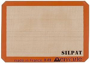 "Silpat Premium Non-Stick Silicone Baking Mat, Half Sheet Size, 11-5/8"" x 16-1/2"""