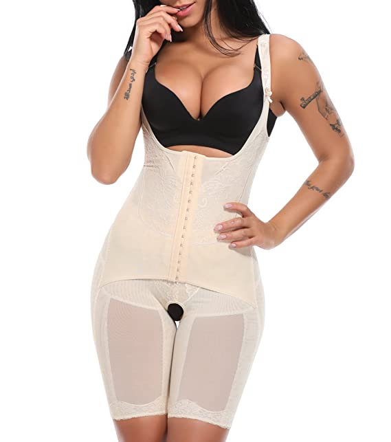 MISS MOLY Body Reductor|Mujer Modeladora Faja Reductora Adelgazantes Bodysuit de Cintura Shapewear con Pierna
