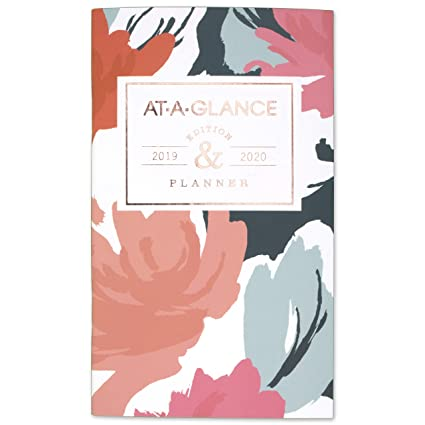 amazon com at a glance 2019 2020 monthly planner 2 year 3 1 2 x