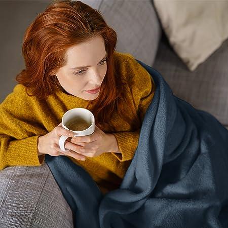 Klarstein Dr. Watson XL • Manta eléctrica • Frazada eléctrica • Calentador de cama • 180 x 130 cm • 120 W • 3 Temperaturas • Temporizador • Apto lavadora ...