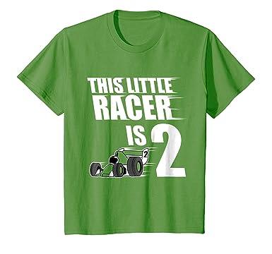 Kids 2nd Birthday Boys Race Car T Shirt Racing 2 Year Old 4 Grass
