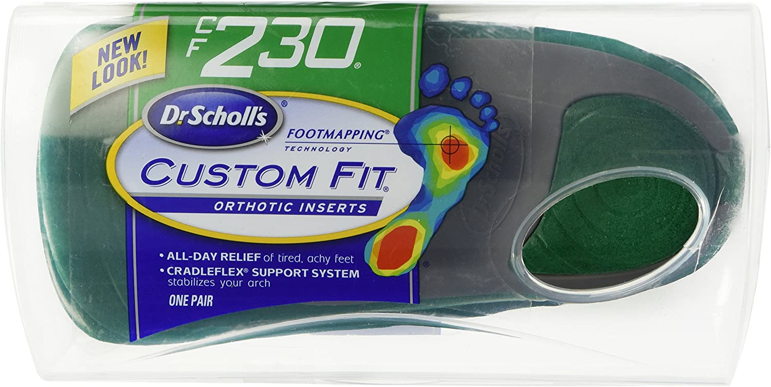 Dr CF 220 BRAND NEW !!! Scholl/'s Custom Fit Orthotic Inserts