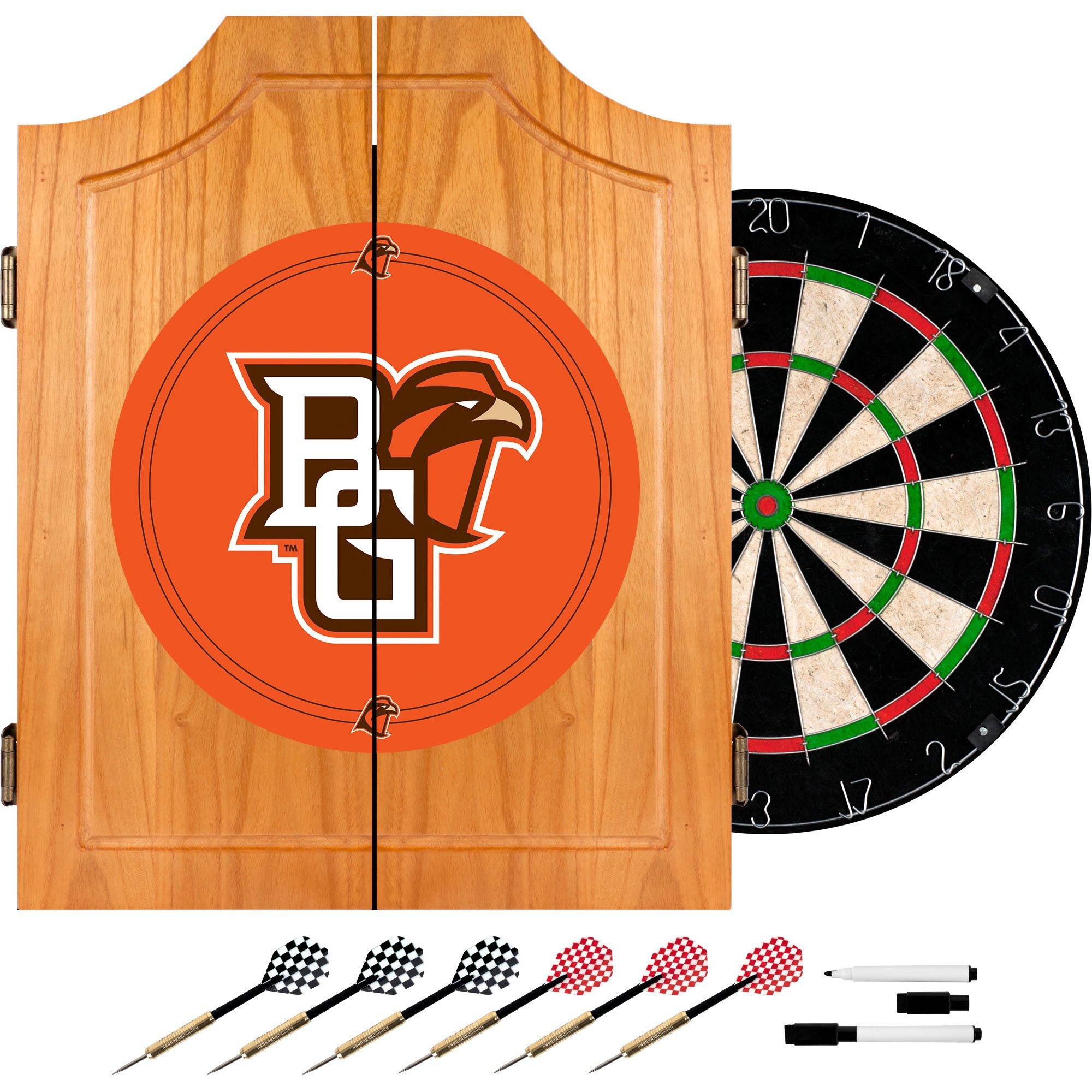 Trademark Gameroom Bowling Green State University Wood Dart Cabinet