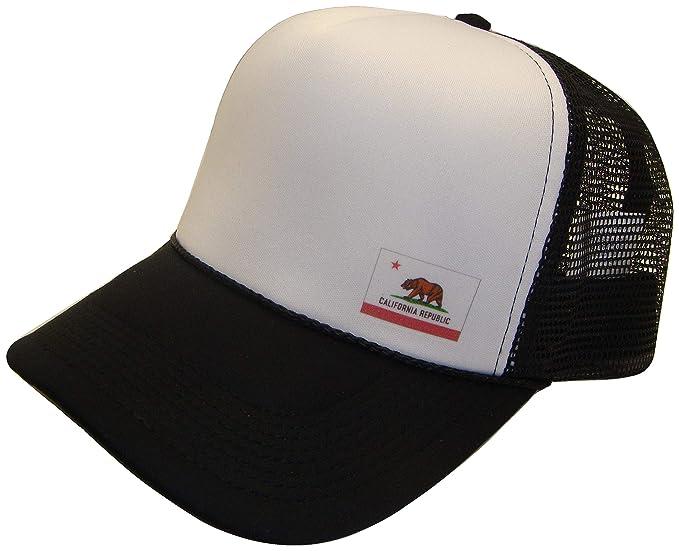 THS California República Estado bandera de malla gorra de rejilla ...