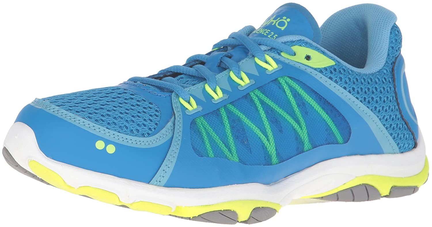 Ryka Women's INFLUENCE2.5 Cross-Trainer Shoe B01AHDYG6S 11 B(M) US|Blue/Lime