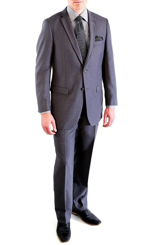 Mens 2 Piece 2 Button Regular Fit Wedding Uniform Business Suit FORD