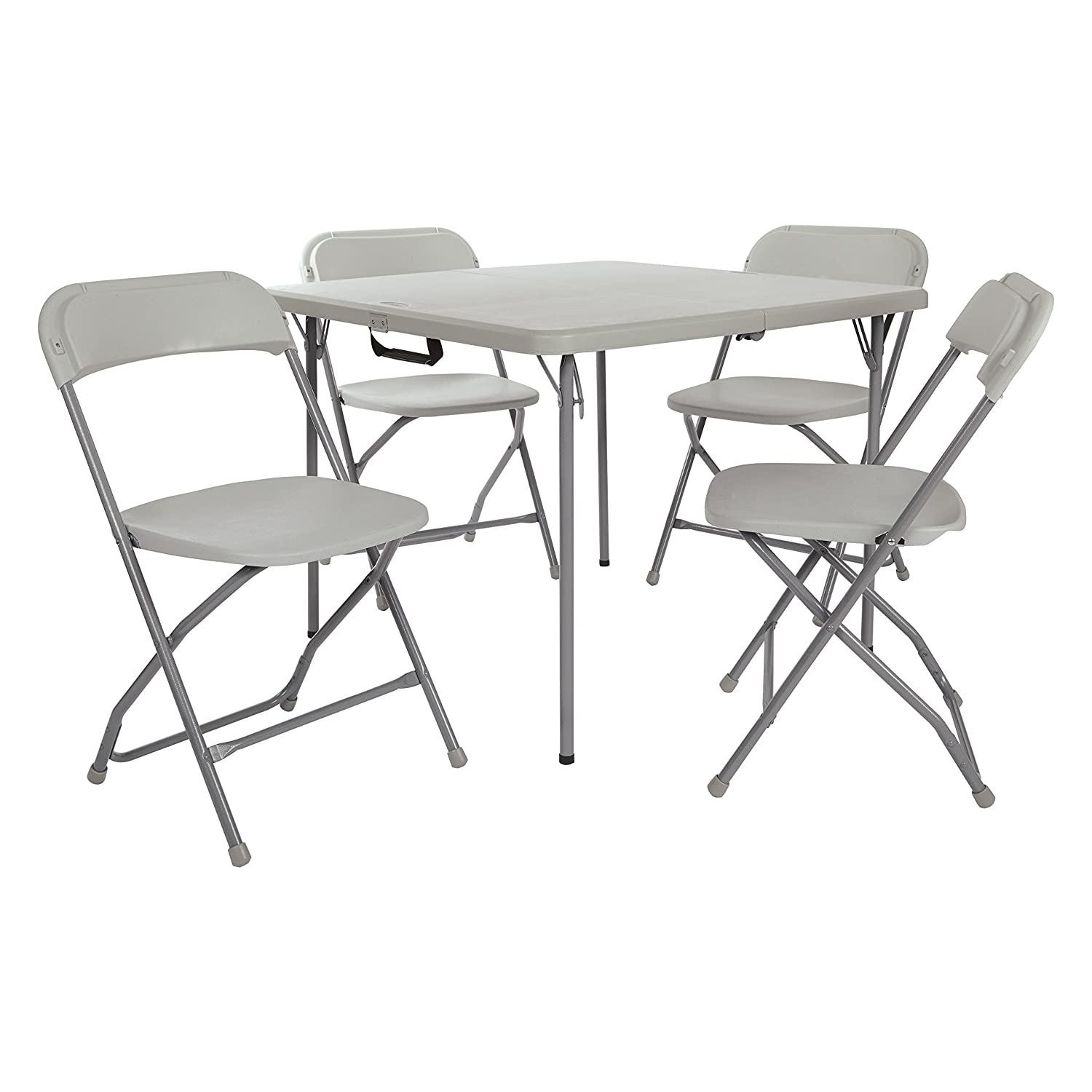 Office Star PCT-05 Table and Chair Set, 5-Piece Square