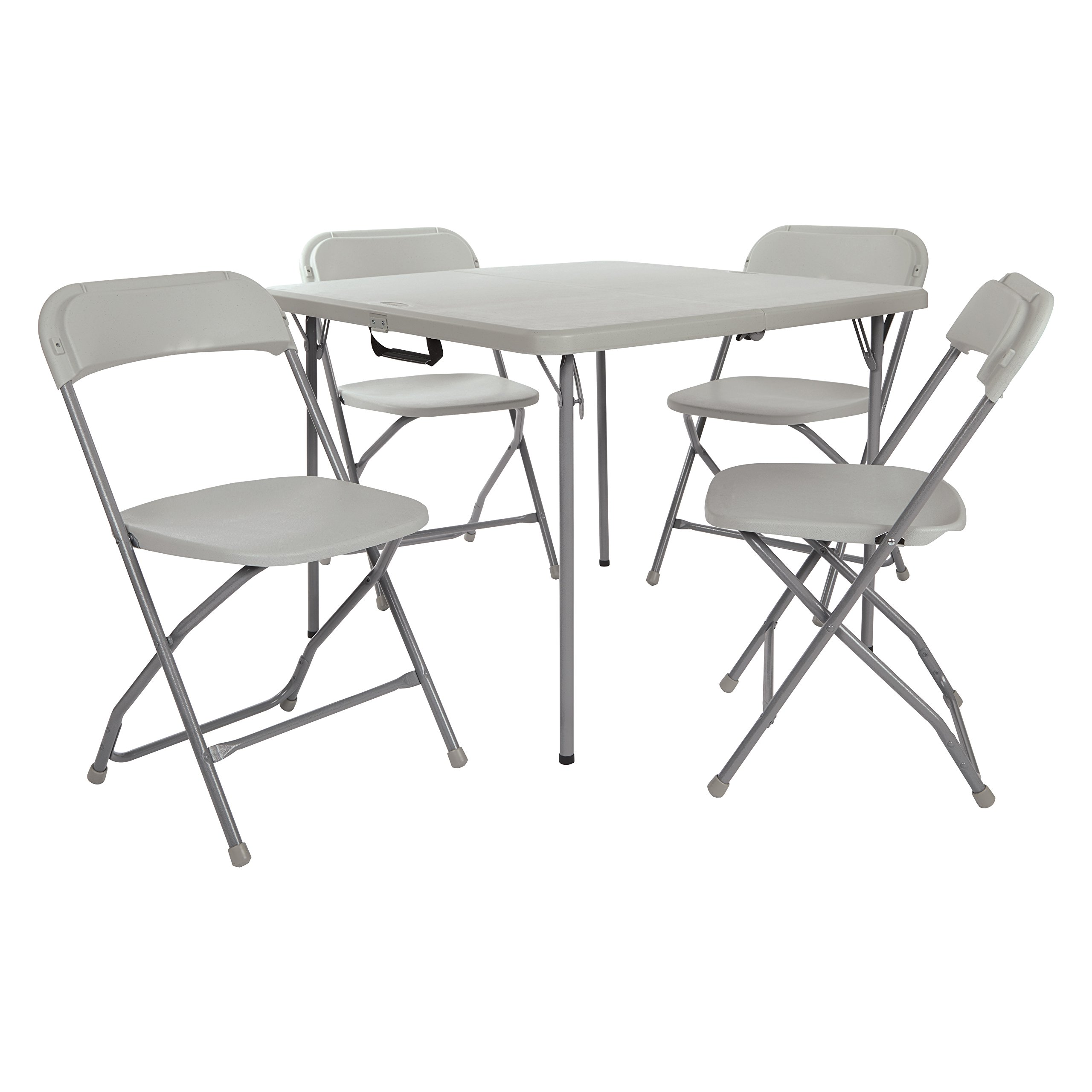 Office Star PCT-05 Table and Chair Set, Light Grey by Office Star
