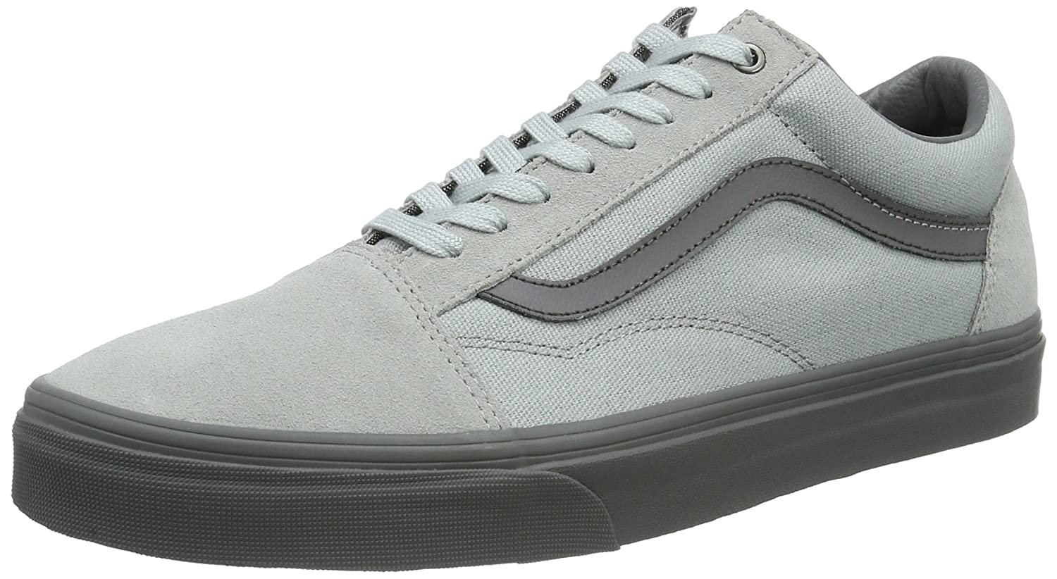 Vans Unisex Old Skool Classic Skate Shoes B01I22EI6E 12|High-rise/Pewter