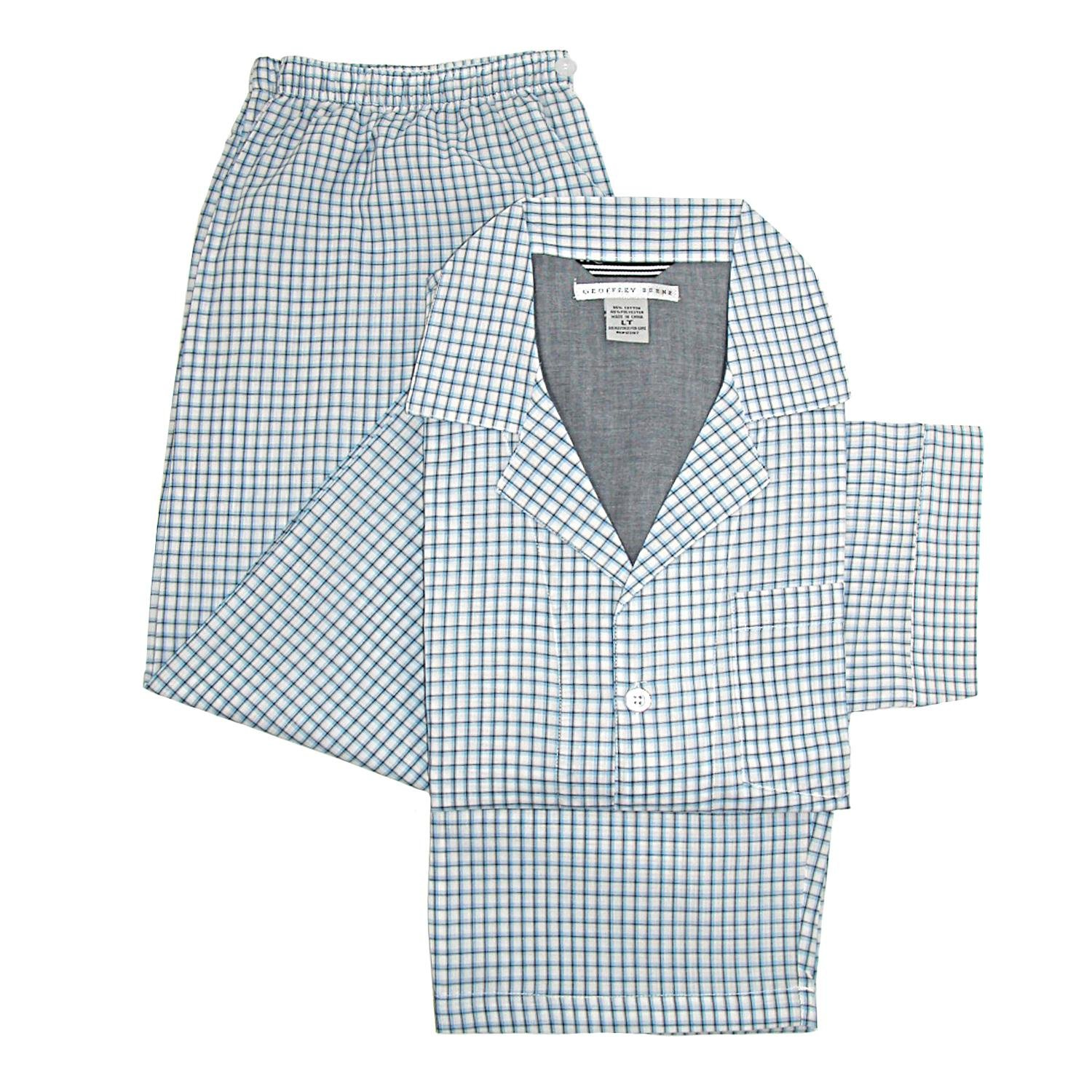 Geoffrey Beene Men's Long Sleeve Long Pant Pajama Set