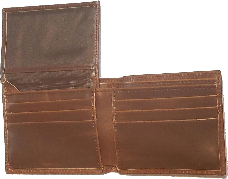 Custom 1 inch Texas Mason Bi-fold Wallet Hair on Hide Brown