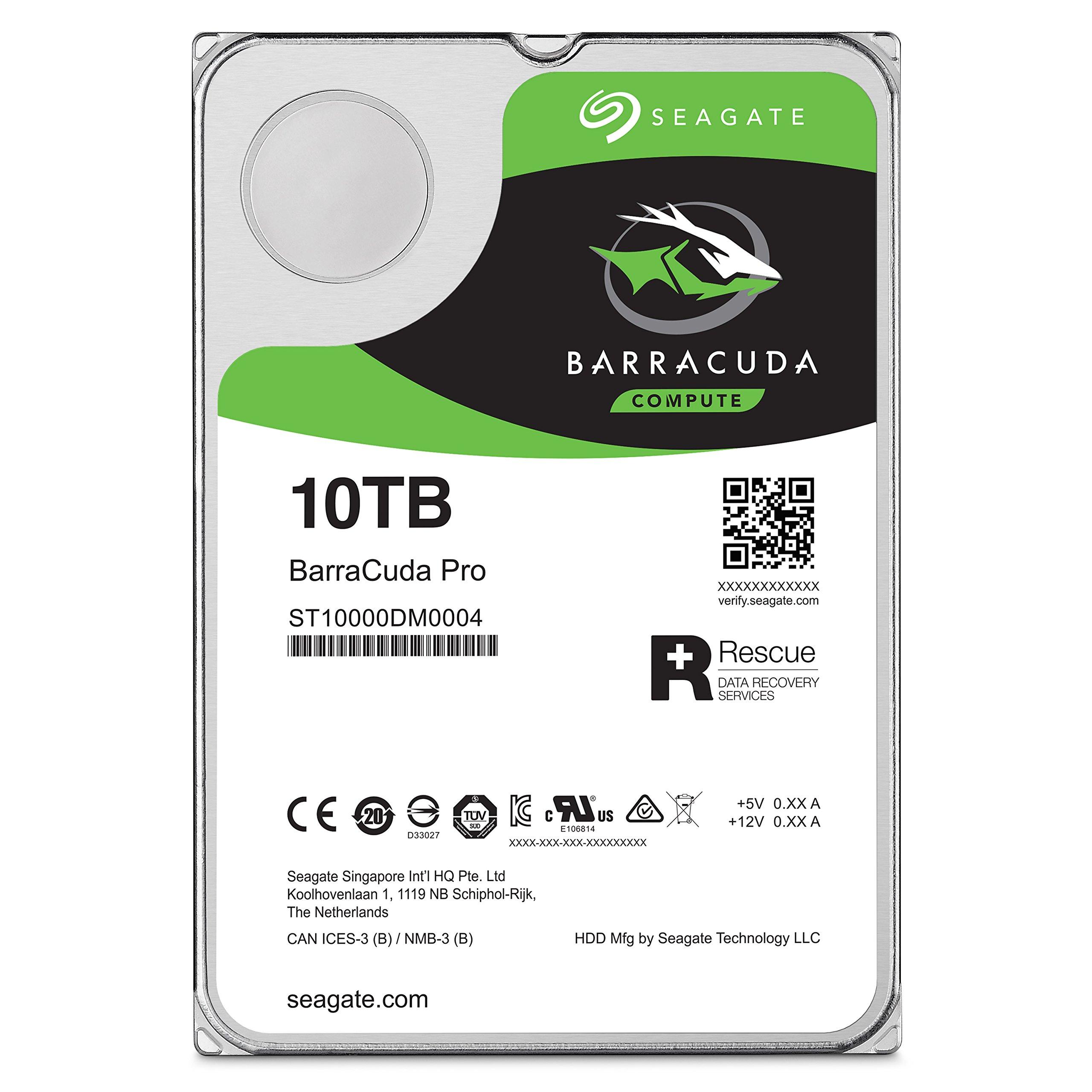 Seagate 10TB BarraCuda Pro 7200RPM SATA 6GB/s 256MB Cache 3.5-Inch Internal Hard Drive (ST10000DM0004) by Seagate