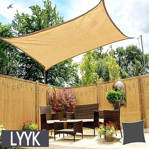 LYYK Toldo Suspendido Impermeable 2.5x5m, Toldo Vela de Sombra axT ...