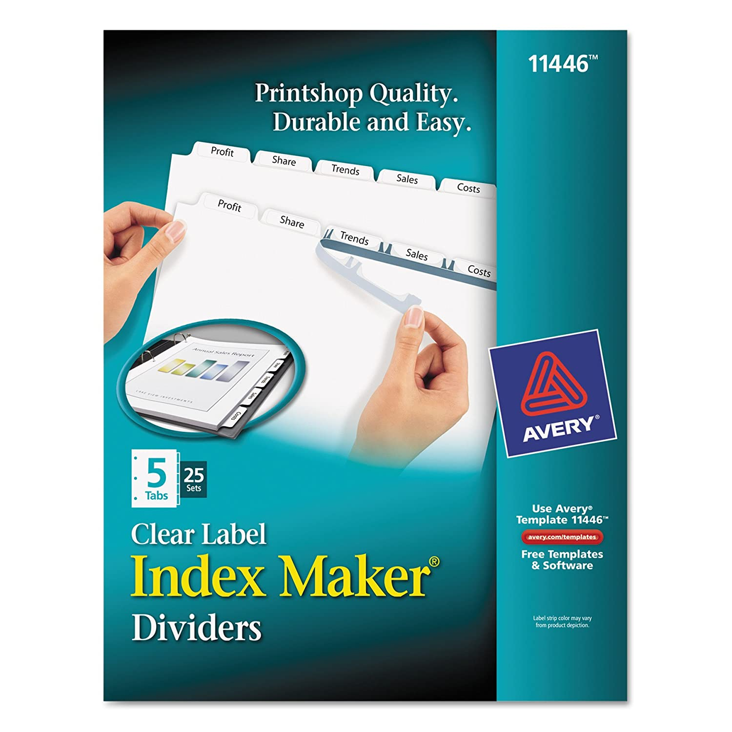 Amazon Avery Print Apply Clear Label Dividers Index Maker