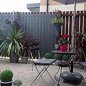 Sol Royal P14 Plastic PVC Privacy Screen Garden Balcony WxH 500x100cm Dark Grey