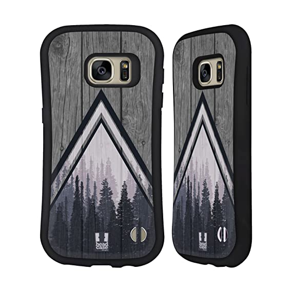 Head Case Designs Pine Trees Nature Wood Prints Hybrid Case for Samsung Galaxy S7