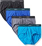 Hanes Men's 4-Pack X-Temp Performance Cool Polyester Dyed Briefs