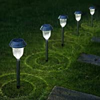 6-Pack Aglaia Outdoor Solar Lights Panels (Stainless Steel)