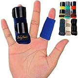 BodyMoves Finger Splint plus sleeve (2 pc set, Aqua Blue)