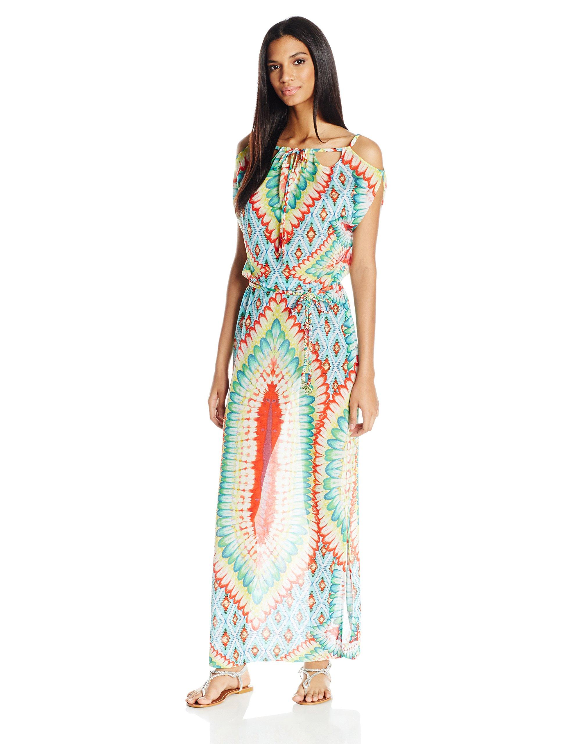 Luli Fama Women's Wild Heart Island Dress Cover up, Multi, XS/S