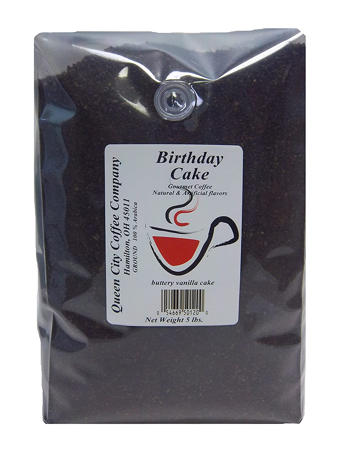 Queen City Coffee Flavored Coffee Birthday Cake 5 Pound Amazon