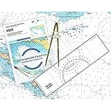 FLASH-TIDE - Pack Permis Hauturier (Carte + règle + compas)