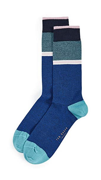various colors great deals select for authentic Amazon.com: Ted Baker Men's Hopewel Socks, Blue, One Size ...