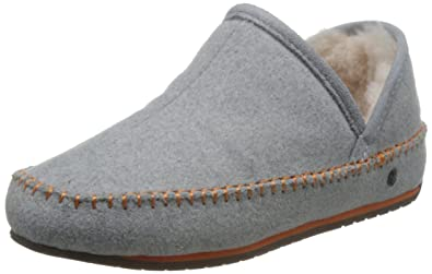 afe4ce23093e EMU Australia Womens Moccasins Slippers Lochlan Deluxe Wool In Dove Grey  Size 5