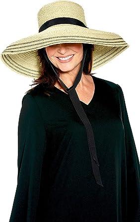 e27609c109238 Coolibar UPF 50+ Women s Loren Fabulous Sun Hat - Sun Protective (One Size-