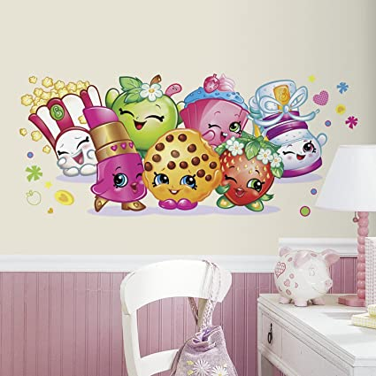 Roommates rmk3155gm shopkins pals peel and stick giant wall graphic