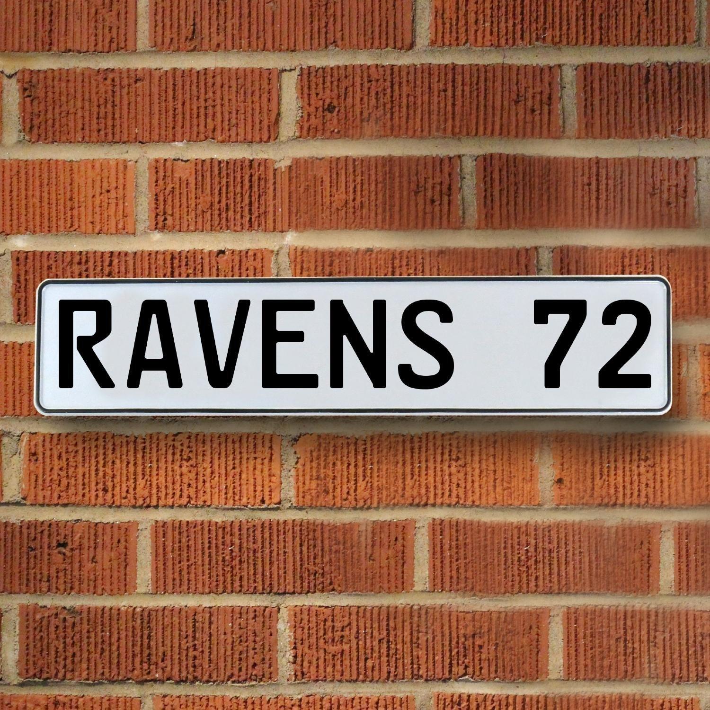 Vintage Parts 335127 72 NFL Baltimore Ravens White Stamped Street Sign Mancave Wall Art