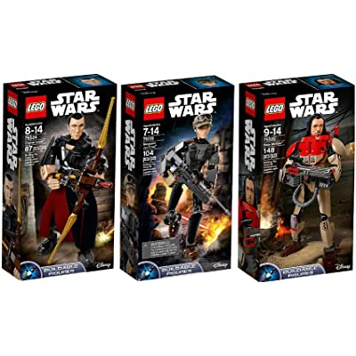 LEGO Star Wars Buildable Series Ultimate 3 Figure Set - Baze Malbus 75525, Jyn Erso 75119, Chirrut Îmwe 75524: Toys & Games