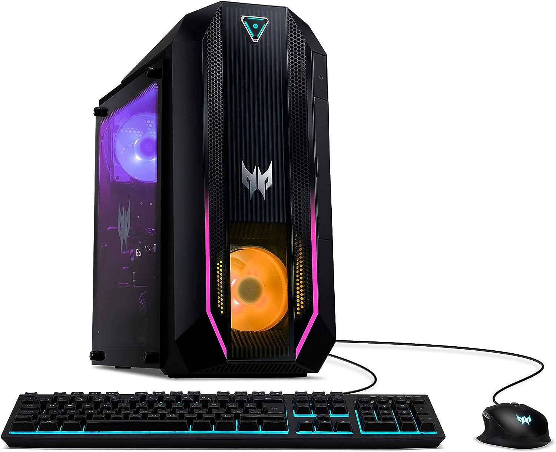 Acer Predator Orion 3000 Gaming Desktop, 10th Gen Intel Core i5-10400F 6-Core Processor, GeForce GTX 1660 Super, 12GB DDR4, 512GB NVMe M.2 SSD, Intel WiFi 6, RGB Keyboard and Mouse, PO3-620-UR13